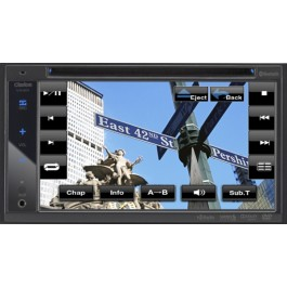 "Clarion VX401 - In-Dash DVD/CD/MP3/USB Receiver With 6.2"" LCD"